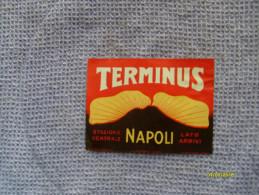 Epoca Baggage Luggage Label Etichetta Hotel TERMINUS Napoli Stazione Centrale Lato Arrivi - Oude Documenten