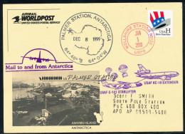 ANTARCTIC, USA, USAF- MILLENNIUM Flight To PALMER Station .12.1999 + 1.1.2000 Nice Special-card,  Look Scan !! - Antarctische Expedities