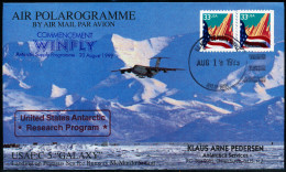 ANTARCTIC, USA, AIR POLAROGRAMME, GALAXY-WINFLY 19.8.199  To McMurdo,  Look Scans !! - Antarctic Expeditions