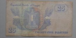 EGYPT  25  PIASTRES     -    (Nº05166) - Egitto