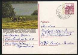 5430 - MONTABAUR - WESTERWALD / 1984  GANZSACHE - BILDPOSTKARTE MIT GLEICHEM STEMPEL  (ref E401) - Bildpostkarten - Gebraucht
