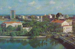 Brazil PPC Recife Vista Parcial Palacio Do Governo OLINDA Meter Stamp 1968 To Denmark (2 Scans) - Recife