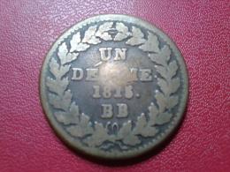 """UN DECIME. 1815. BB    """"LOUIS XVIII"""" - France"""