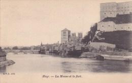 Huy. -  La Meuse Et Le Fort;   (Uit Plakboek) - Huy