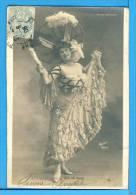 CP, Folies Bergères - Eve De Milo, Dos Simple, Voyagé En 1906 - Femmes