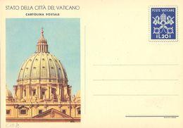 """VATICANO - INTERO POSTALE """"VEDUTE"""" - 1953 - L. 20 - FILAGRANO """"C12 - DISEGNO 2"""" (CUPOLONE) - NUOVA ** - Interi Postali"""