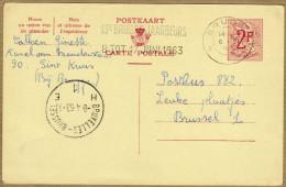 Carte Entier Postal Brugge Bruxelles - Stamped Stationery