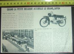 PUB PUBLICITE MOTO SUPER CUB SPORT HONDA PHOTO DE L USINE A ALOST - Oude Documenten