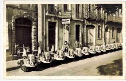 Agde - Carte Photo Originale  Ets Joseph Blanc Et Fils Tracteur UNIRAG à Chenilles Diésel Vigneron Et Routier - Agde