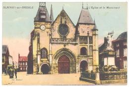 CPA 76 - BLANGY SUR BRESLE - L'Eglise Et Le Monument - Peu Courante - Blangy-sur-Bresle