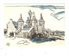 CPA : Mathurin Méheu - 29 - Saint Cado : Monument ( Type Calvaire ) Bleu & Noir .... - Meheut