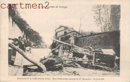 LES TROUBLES DE LIMOGES BARRICADE DE LA VIEILLE ROUTE D'AIXE MORT D'ESTACADE JUMENT DU 21e CHASSEURS MANIFESTATION 87 - Limoges