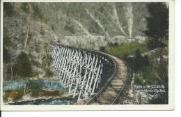 Trestle On The C.C. & O Railway (Clinchfield) Near Johnson City, Tennessee, TN, 1915 Early Modern Era Postcard # 8973 - Johnson City