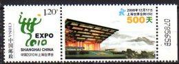 2008 China - World Exhibition EXPO 2010 Schanghai - 1v With Coupon MI  4018 - Paper MNH ** - 2010 – Shanghai (China)