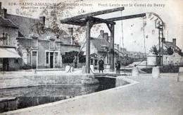 SAINT-AMAND-MONTROND - LE PONT LEVIS SUR LE CANAL DU BERRY - BELLE CARTE ANIMEE - - Saint-Amand-Montrond