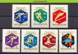 Mtz036 SPORT OLYMPISCHE SPELEN SCHAATSEN SKIËN OLYMPIC GAMES SKATING SKIING ICEHOCKEY HUNGARY 1960 PF/MNH # - Winter 1960: Squaw Valley