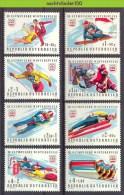 Mtz037 SPORT OLYMPISCHE SPELEN SCHAATSEN SKIËN OLYMPIC GAMES SKATING SKIING ICEHOCKEY ÖSTERREICH 1975 PF/MNH + ONG/MH - Winter 1976: Innsbruck