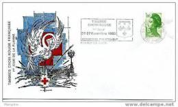 Cachet Commémoratif: «Exposition Philatélique Enghien-les-Bains» 1983.11.26 Sur Liberté Yv 2219 - Poststempel (Briefe)