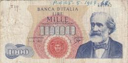 Lire 1000 Verdi Contrassegno Medusa Dec. 28/08/1962 - [ 2] 1946-… : Républic