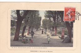 22831 ASNIERES - Un Coin Du Square , Ch Deval Journaux Cartes Postales - Facon Gravure Colorisee- Enfant