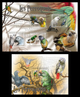 CENTRAL AFRICA 2011 - Parrots - Mi 3023-6 + B718 - Centraal-Afrikaanse Republiek