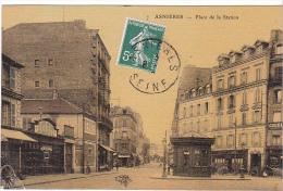 22832 ASNIERES - Place De La Station - 7 Ed Chien ?  Commerce Bernot - Chirurgie - Asnieres Sur Seine