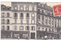 22834 ASNIERES - Grande Rue Place Station Coté Droit -19 Ed - Commerce Boulangerie Sellier - Societe General - Dentiste - Asnieres Sur Seine