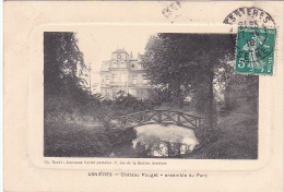 22835 ASNIERES - Chateau Pouget Ensemble Du Parc -Deval Journaux Cartes Postales -facon Gravure