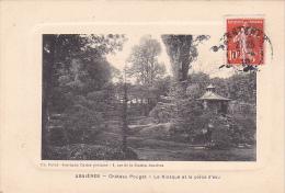 22836 ASNIERES - Chateau Pouget Kiosque Piece D'eau -Deval Journaux Cartes Postales -facon Gravure -charcuterie - Asnieres Sur Seine