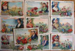 Carte Chromo Image (19) Quina Laroche Province Fleur Et Blason - Fiches Illustrées