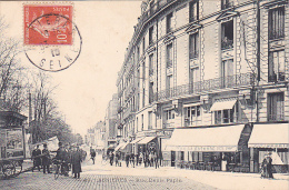 22839 ASNIERES - Rue Denis Papin -22 Marmuse - Café La Rotonde -publicité Music Hall Laure Damoye -