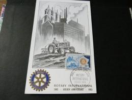 CARTE PREMIER JOUR ROTARY 23 Février 1955 - Cartes-Maximum
