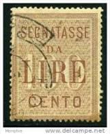 1884  Taxe Grand Format 100 L. - 1878-00 Humbert I.