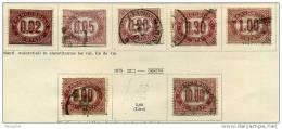 1875  Timbres De Service 7 Valeurs - 1861-78 Vittorio Emanuele II