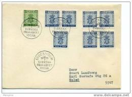 SWEDEN 1955 FDC Centenary Of Swedish Stamps Scott 473-6 Mi Nr 402-3 - FDC