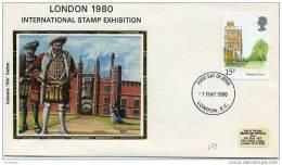 1980  Hampton Court   SG 1123 - FDC