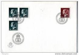 SUEDE 1974  FDC  Roi Carl XVI Gustaf   Mi Nr 750-1 - FDC