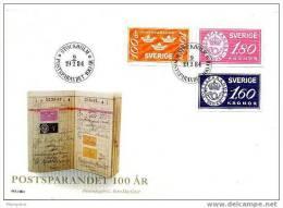 SUEDE 1984    FDC  Banque Postale   Mi Nr 1267-9 - FDC