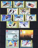 UMM AL QIWAIN  Série Complète 10 Timbres Et 2 BF Oblit. Ski, Patinage, Hockey, - Winter 1972: Sapporo