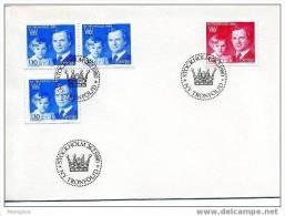 SWEDEN 1980  FDC  King Carl »&#8730 &#960  Gustaf And Princess Victoria  Scott 1318-20  Mi Nr 1101-2 - FDC
