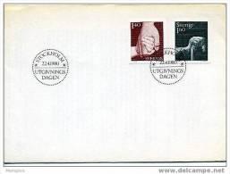 SWEDEN 1980  FDC  Social Insurance  Scott 1321-2  Mi Nr 1103-4 - FDC