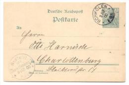 GS Deutsche Reichspost 1900 Von Schkölen Nach Charlottenburg - Germany