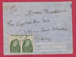 A O F //  Enveloppe   Pour Paris  //   7 Janvier 1950 - Covers & Documents