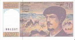 20 Fr DEBUSSY 1980 - 20 F 1980-1997 ''Debussy''