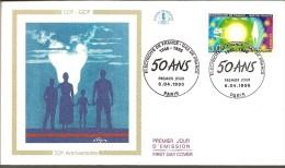 1996 ENVELOPPE PREMIER JOUR EDF GDF 50 ANS - 1990-1999