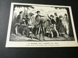 CPA La Bourse Aux Timbres En 1860 Novembre 1941 (1fr) - Bourses & Salons De Collections
