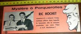 ANNONCE ALBUM TIBET RIC HOCHET ET DUCHATEAU MYSTERE A PORQUEROLLES PHOTO - Vieux Papiers