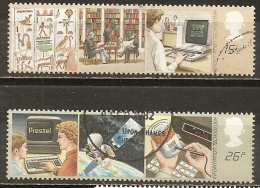 Grande-Bretagne Great Britain 1982 Information Technology Set Complete Obl - Usati