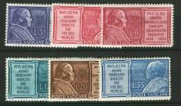 1954 Vaticano Anno Mariano N. 176-81 INTEGRI MNH** - Unused Stamps