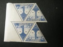 BLOC 4 Cote Française Des Somalis 4Fr Cinquantenaire Du Transfert Du Chef Lieu D'Obock à Djibouti - Côte Française Des Somalis (1894-1967)